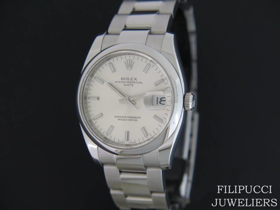 Rolex  Rolex Date Silver Dial 115200