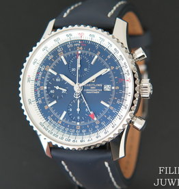 Breitling Navitimer World Blue Dial A2432212 NEW