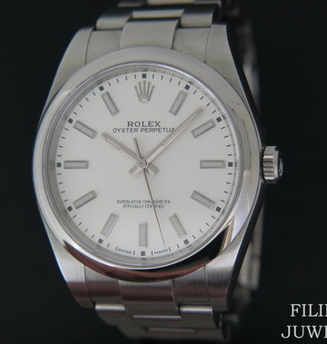 Rolex  Oyster Perpetual 114300 White Dial