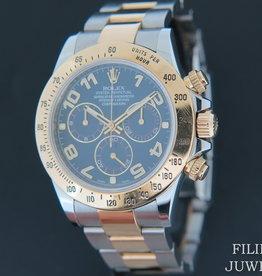 Rolex  Daytona Gold/Steel 116523 Blue Racing Dial