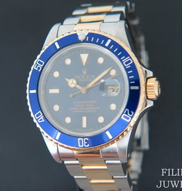 Rolex  Submariner Date Gold/Steel Blue Dial 16803