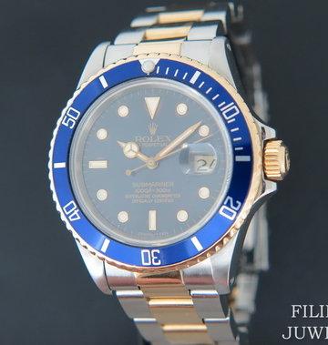 Rolex  Submariner Date Gold/Steel Blue Dial 16803