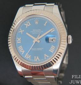 Rolex  Datejust II Azzurro Blue 116334