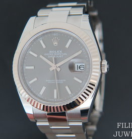 Rolex  Datejust 41 Dark Rhodium NEW 126334