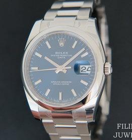 Rolex  Date Blue Dial NEW 115200