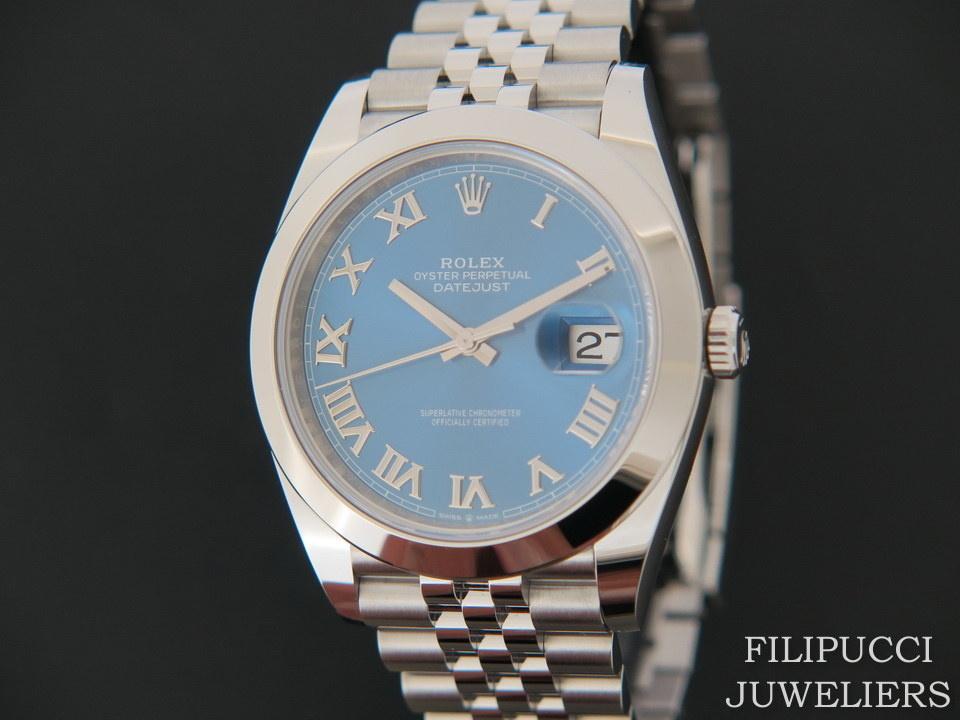 Rolex  Rolex  Datejust 41 Blue Roman  Dial  126300  NEW