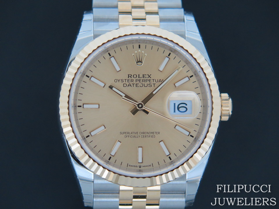 Rolex  Rolex Datejust 126233 Gold/Steel Champagne Dial  NEW 2019