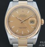 Rolex  Rolex Datejust Gold/Steel Champagne Dial 116233