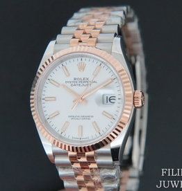 Rolex  Datejust NEW 126231 Everose/Steel White Dial