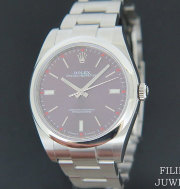 Rolex  Oyster Perpetual Red Grape NEW 114300