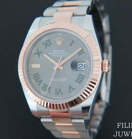Rolex  Datejust 41 Everosegold/Steel Slate Dial 126331 NEW