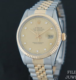 Rolex  Datejust 16013 Champagne Diamonds Dial