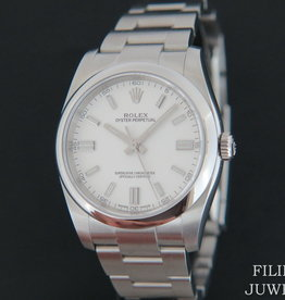 Rolex  Oyster Perpetual  White Dial NEW 116000