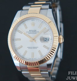 Rolex  Datejust 41 Gold/Steel 126333 Silver Dial