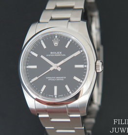Rolex  Oyster Perpetual Black Dial 114200 NEW
