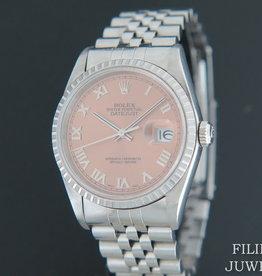Rolex  Datejust Pink Roman Dial 16220