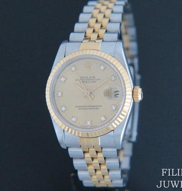 Rolex  Datejust Midsize Diamond Dial 68273