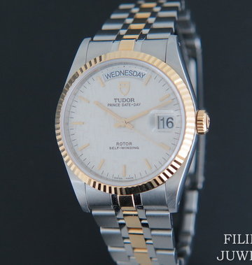 Tudor Prince Day+Date Gold/Steel 76213