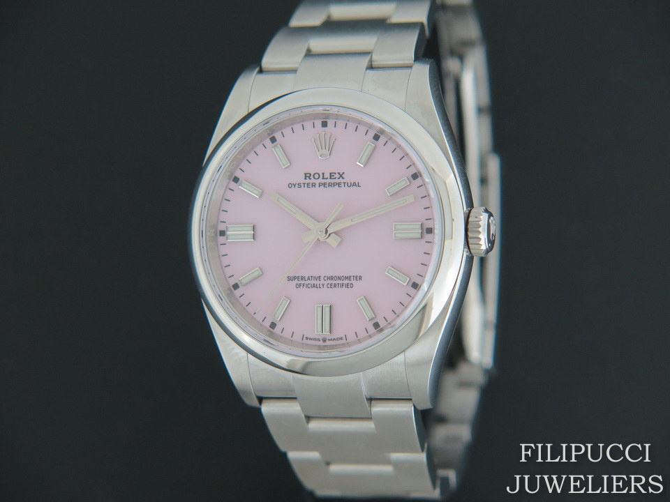 Rolex  Rolex Oyster Perpetual Candy Pink Dial 126000 NEW