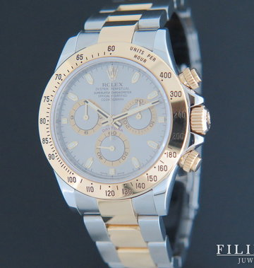 Rolex  Daytona Gold/Steel 116523 Grey Dial