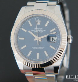 Rolex  Datejust 41 Blue Dial NEW 126334