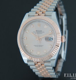 Rolex  Datejust 41 Rose gold / Steel Diamond Dial 126331