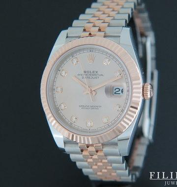 Rolex  Datejust 41 Rose gold / Steel Diamond Dial 126331