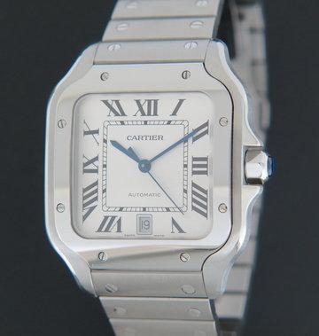 Cartier Santos Large Date Steel Roman Dial WSSA0009 / 4072