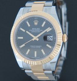 Rolex  Datejust 41 Gold/Steel Black Dial NEW 126333