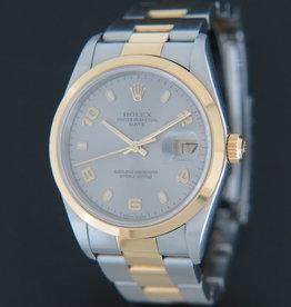 Rolex  Date Gold/Steel Silver Dial 15203