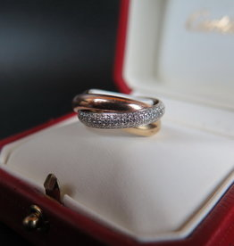Cartier Trinity Diamond Ring Size 53