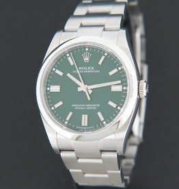 Rolex  Oyster Perpetual 36 Green Dial 126000 NEW