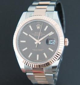 Rolex  Datejust 41 Everosegold/Steel 126331 Choco Dial NEW