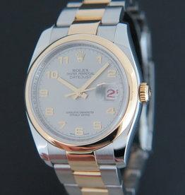 Rolex  Datejust Gold/Steel Grey Arab Dial 116203