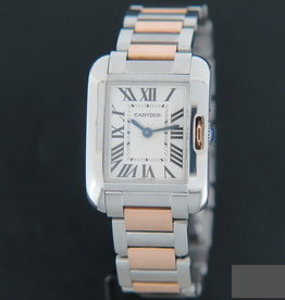 Cartier Tank Anglaise Rosegold/Steel  Silver Dial  W5310036