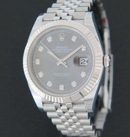 Rolex  Datejust 41 Rhodium Diamond Dial NEW 126334 FULL STICKERS