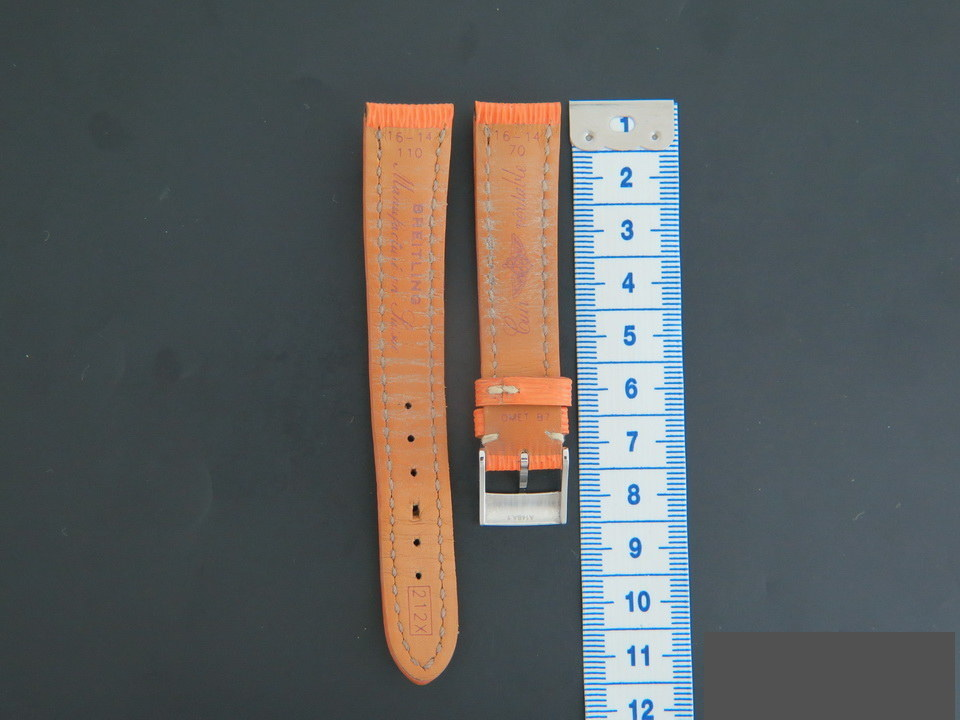 Breitling Breitling Leather Strap 16-14mm with buckle