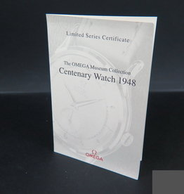 Omega Certificate for Centenary Watch