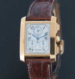 Cartier Tank Francaise Chronoflex Yellow Gold 1830