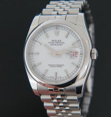 Rolex  Datejust 116200 White Dial