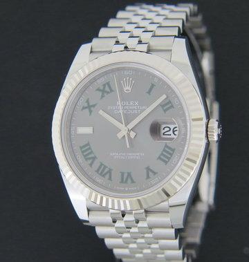 Rolex  Datejust 41 Slate Roman Dial 126334 NEW