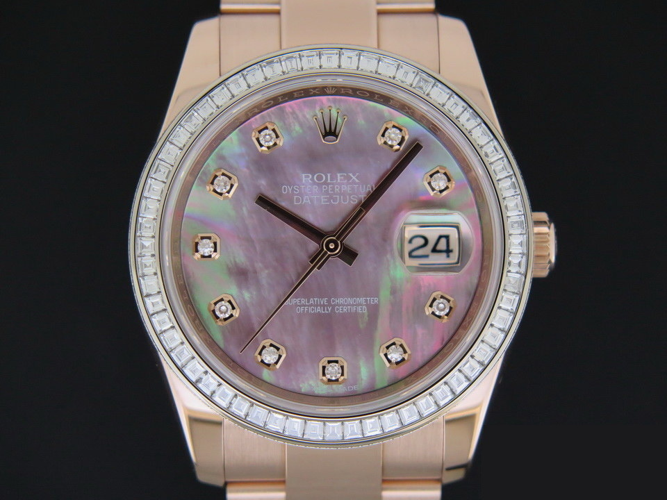Rolex  Rolex Datejust Everosegold MOP Diamond Dial NEW 116285BBR