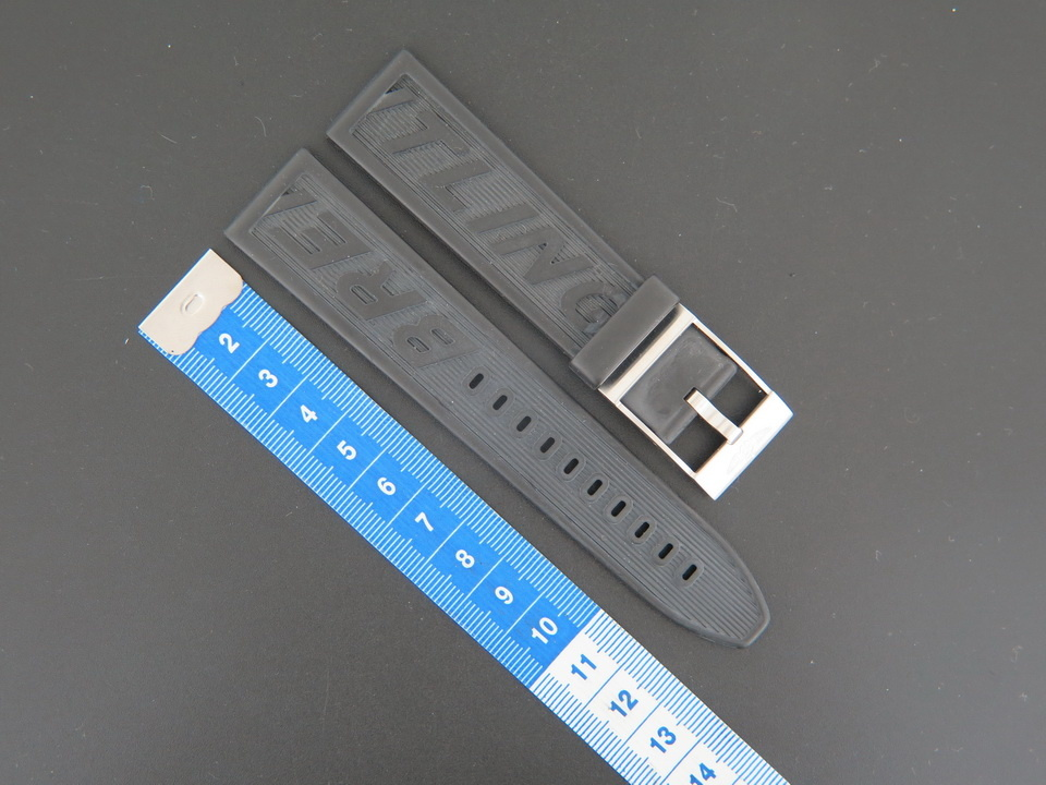 Breitling  Breitling NEW Rubber strap 22-20 + Breitling Clasp