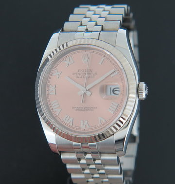 Rolex  Datejust Salmon / Pink Dial 116234