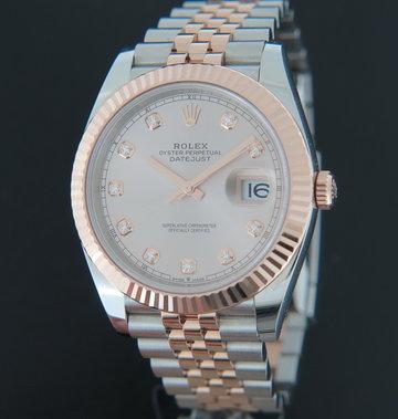 Rolex  Datejust 41 Everose/Steel Diamond Dial 126331