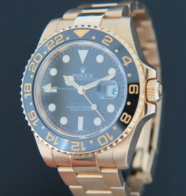 Rolex  GMT-Master II Yellow Gold Black Dial 116718LN