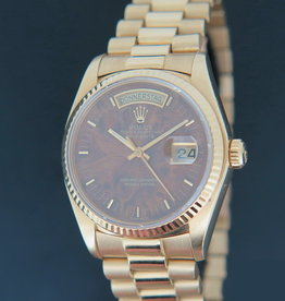 Rolex  Day-Date Yellow Gold 18038 Wood Dial