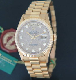 Rolex  Day-Date Yellow Gold 18238  N.O.S. Fossil / Jurassic Park / Diamond Dial
