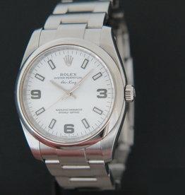 Rolex  Air-King 3 6 9 White Dial 114200