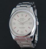 Rolex  Rolex Air-King 3 6 9 Silver Dial pink index 114200